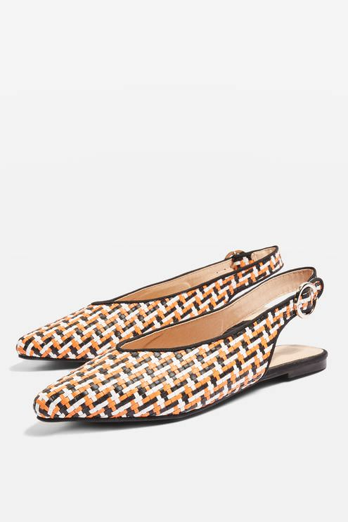 Topshop Pointed Woven Shoes